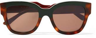 Marni Cromo Cat-eye Tortoiseshell Acetate Sunglasses - Brown