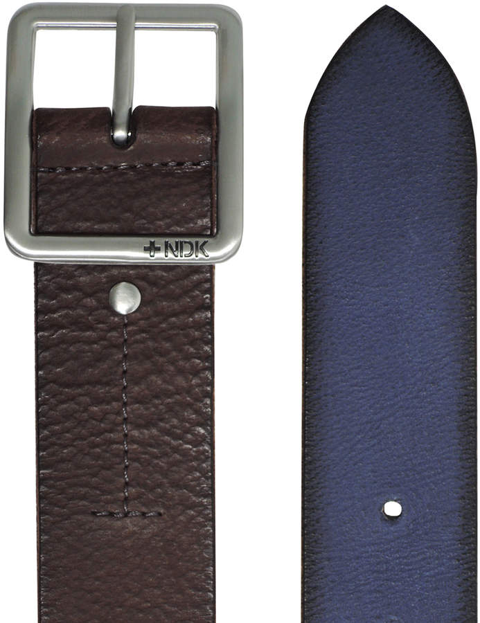 Dark Brown 32'' Cosmopolitan Rugged Reversible Leather Belt