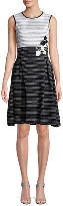 Carolina Herrera Embroidered A-Line Dress
