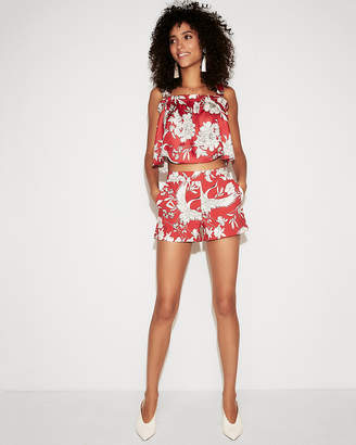 Express Mid Rise Floral Shorties