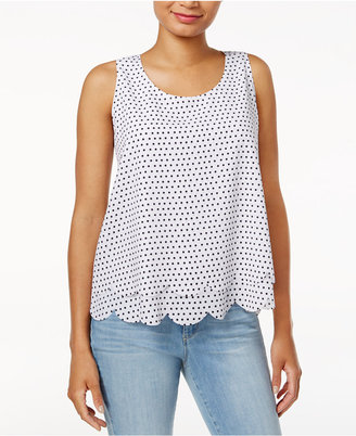 Maison Jules Printed Tiered Scalloped Top, Created for Macy's $49.50 thestylecure.com