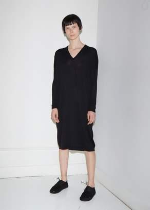 6397 Extra Fine Merino Wool V-Neck Dress