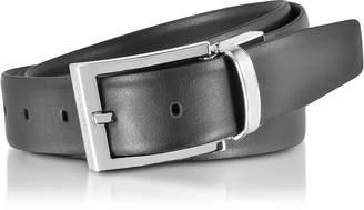 Ermenegildo Zegna Black/Dark Brown Leather Reversible and Adjustable Belt
