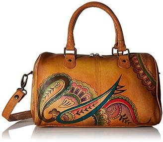 Anuschka Anna by Women's Genuine Leather Satchel | Zip Around | | Royal Paisley