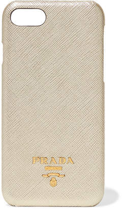 Prada Metallic Textured-leather Iphone 7 And 8 Case - Gold