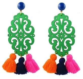 "Katie Bartels Jewelry Blue & Turquoise Howlite Earrings ""Adna"""