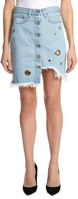 PRPS Nomad Grommet Denim Skirt