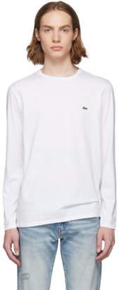 Lacoste White Classic Pima Logo Long Sleeve T-Shirt