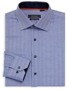 Contemporary-Fit Chevron Dress Shirt