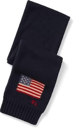 Ralph Lauren Flag Cotton Scarf