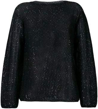 M Missoni metallic glitter knitted jumper