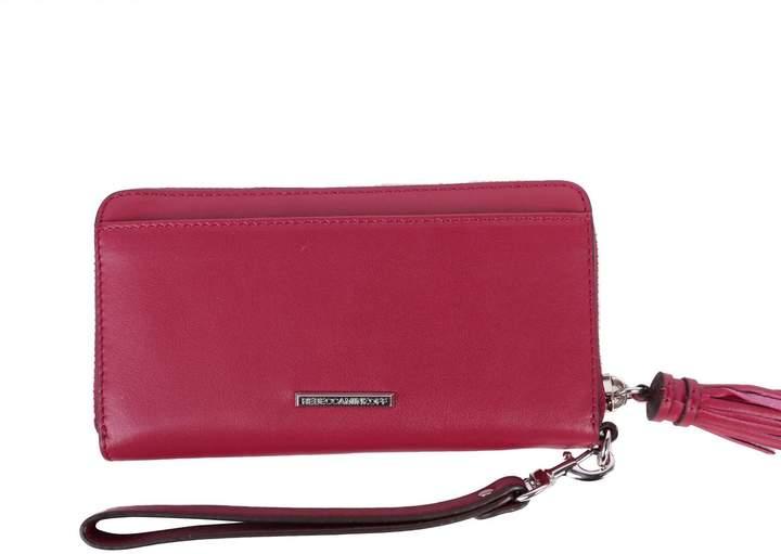 Rebecca Minkoff Leather Wallet - BURGUNDY - STYLE