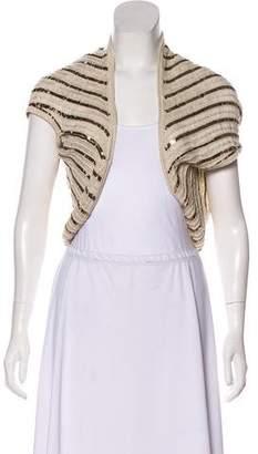 Alice + Olivia Sequin Embellished Knit Shrug