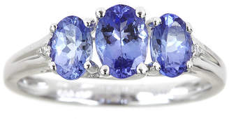 JCPenney FINE JEWELRY LIMITED QUANTITIES Genuine Tanzanite and Diamond-Accent 3-Stone Ring
