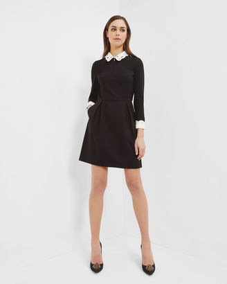 Embroidered collared dress $295 thestylecure.com
