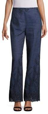 Embroidered Denim Trousers