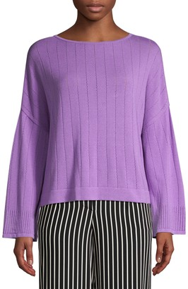 Beatrice. B Pointelle Stitch Knit Pullover