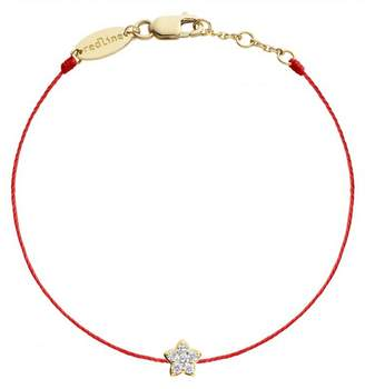 Redline Diamond Star Red Bracelet - Yellow Gold
