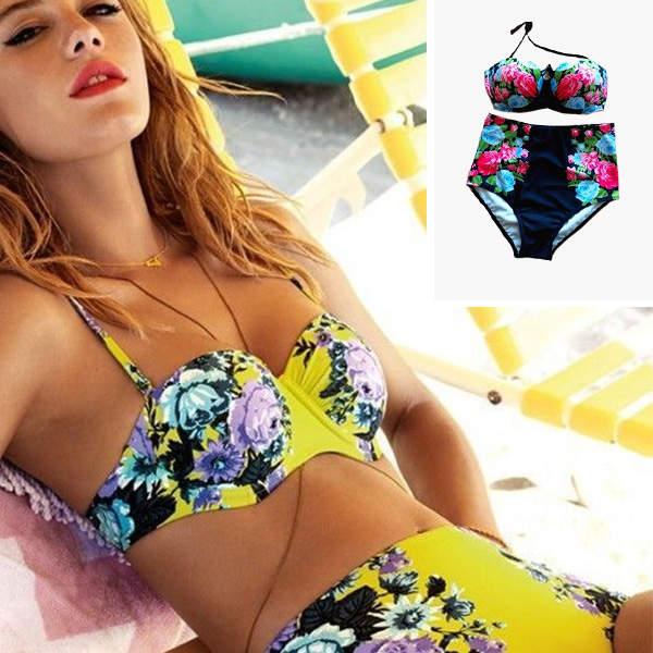 Bikini mit Blumen-Muster