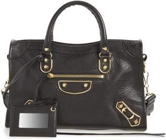 8abc04561a04 Balenciaga Small Classic Metallic Edge City Leather Tote
