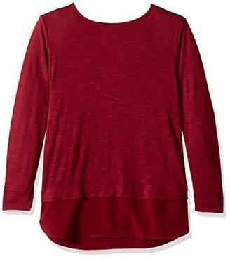 J.Crew Mercantile Women's Woven Hem T-Shirt