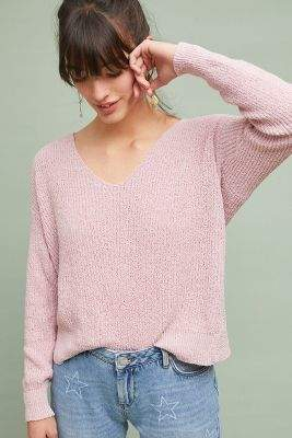 Line & Dot Knotted Back Pullover