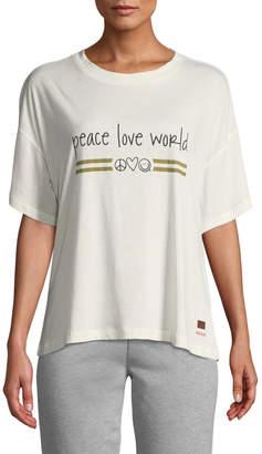 Peace Love World Kenny Logo-Graphic Tee