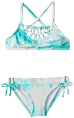 Billabong Kids Peace 4 U Cross-Back Swim Set Girl's Swimwear Sets