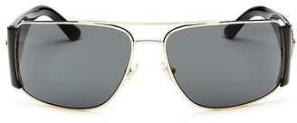 Versace Men's Brow Bar Square Sunglasses, 63mm