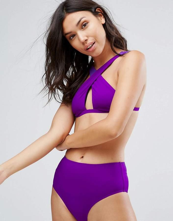 Free Society Cross Front Bikini Top