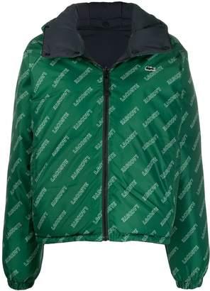 Lacoste Live logo puffer reversible jacket