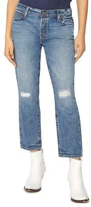 Sanctuary Disrupt Rip & Repair Crop Jeans in Flat Iron