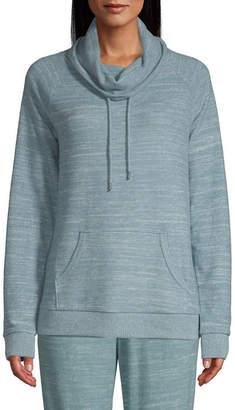 ST. JOHN'S BAY SJB ACTIVE Active Cozy-Womens Turtleneck Long Sleeve T-Shirt