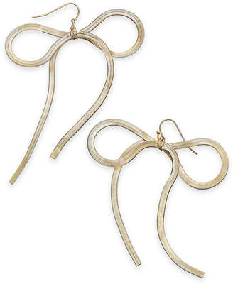 Thalia Sodi Gold-Tone Bow Drop Earrings, Created for Macy's