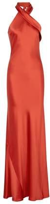 Pandora Galvan Red Silk Gown