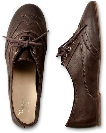 Vintage Shoe Company Aubrey Oxfords