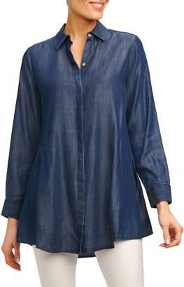 Foxcroft Cici Tencel(R) Tunic Shirt