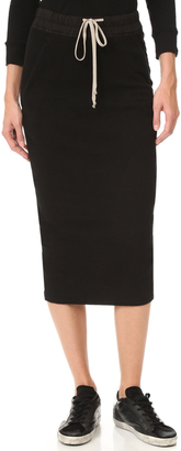 Rick Owens DRKSHDW Soft Short Pillar Skirt $555 thestylecure.com