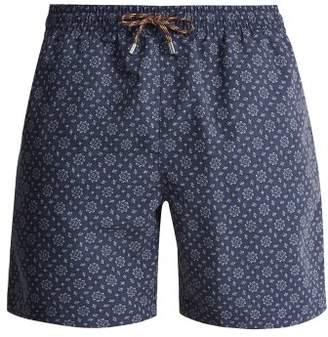 Stella Mccartney - Tile Print Swim Shorts - Mens - Navy Multi