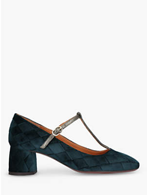 Chie Mihara Block Heel Court Shoes, Mid Green
