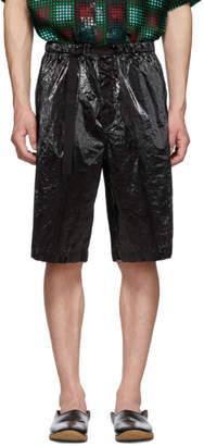 Dries Van Noten Black Piene Shorts