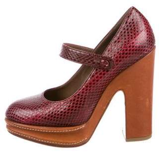 Marni Snakeskin Mary Jane Pumps