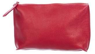 Barneys New York Barney's New York Pebbled Leather Clutch