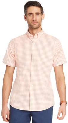 Izod Big & Tall Advantage Cool FX Regular-Fit Plaid Moisture-Wicking Button-Down Shirt