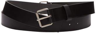 Rick Owens Black Extra Long Leather Belt