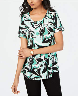 JM Collection Petite Printed Top