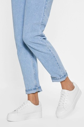 4154ff0c0 Nasty Gal Blanks a Lot Platform Faux Leather Sneakers