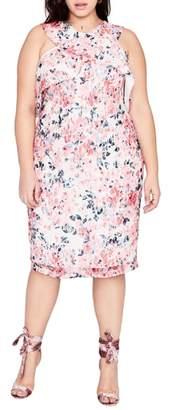 Rachel Roy Print Off the Shoulder Lace Dress