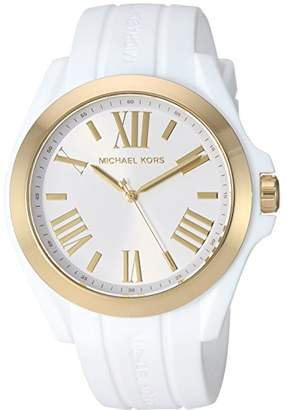 Michael Kors Women's 'Bradshaw' Quartz Plastic and Silicone Casual Watch
