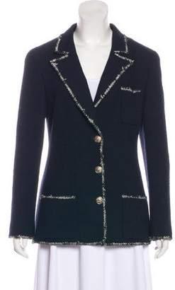 Chanel Wool Tweed-Trimmed Blazer